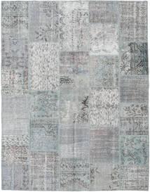 パッチワーク 絨毯 196X251 モダン 手織り 薄い灰色/ターコイズブルー (ウール, トルコ)