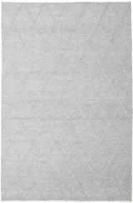 Svea - 銀灰色 絨毯 200X300 モダン 手織り 薄い灰色/ホワイト/クリーム色 (ウール, インド)