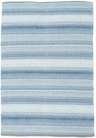 Wilma - 青 絨毯 120X180 モダン 手織り 水色/ベージュ (綿, インド)