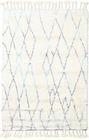 Rana - ナチュラル/青 絨毯 120X180 モダン 手織り ベージュ/ホワイト/クリーム色 (ウール, インド)