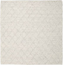 Rut - ソフトグレー Melange 絨毯 250X250 モダン 手織り 正方形 薄い灰色/ベージュ 大きな (ウール, インド)