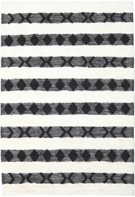 Shaula - 黒/白 絨毯 200X300 モダン 手織り ベージュ/ホワイト/クリーム色 (ウール, インド)
