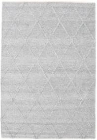Svea - 銀灰色 絨毯 140X200 モダン 手織り 薄い灰色/ホワイト/クリーム色 (ウール, インド)