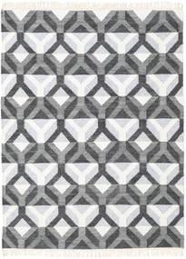 Aino 絨毯 140X200 モダン 手織り 濃いグレー/ベージュ/薄い灰色 (ウール/バンブーシルク, インド)