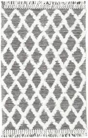 Inez - 濃い茶色/白 絨毯 140X200 モダン 手織り 薄い灰色/ベージュ (ウール, インド)