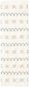 Shedir - 白 絨毯 80X250 モダン 手織り 廊下 カーペット ベージュ/黄色 (ウール, インド)