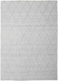 Svea - 銀灰色 絨毯 250X350 モダン 手織り 薄い灰色/ホワイト/クリーム色 大きな (ウール, インド)