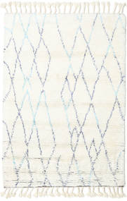 Rana - ナチュラル/青 絨毯 200X300 モダン 手織り ベージュ/ホワイト/クリーム色 (ウール, インド)