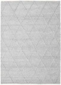Svea - 銀灰色 絨毯 160X230 モダン 手織り 薄い灰色/ホワイト/クリーム色 (ウール, インド)