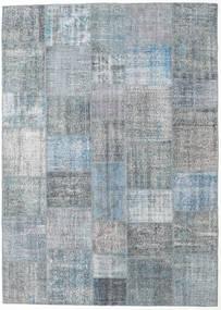 パッチワーク 絨毯 250X352 モダン 手織り 薄い灰色/青/水色 大きな (ウール, トルコ)
