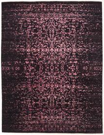 Damask インド 絨毯 237X308 モダン 手織り 濃い茶色/濃い紫 ( インド)