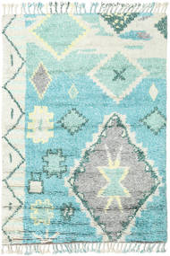 Odda - ターコイズ 絨毯 160X230 モダン 手織り 薄い灰色/ターコイズブルー (ウール, インド)
