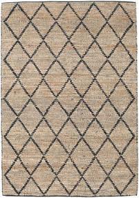屋外カーペット Serena Jute - ナチュラル/黒 絨毯 160X230 モダン 手織り 薄い灰色/薄茶色 ( インド)