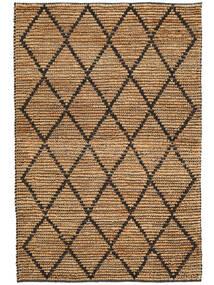 屋外カーペット Serena Jute - ナチュラル/黒 絨毯 120X180 モダン 手織り 薄い灰色/ベージュ ( インド)