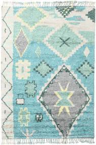 Odda - ターコイズ 絨毯 200X300 モダン 手織り ベージュ/ターコイズブルー (ウール, インド)