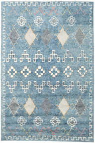 Zaurac - 青 グレー 絨毯 200X300 モダン 手織り 水色/ホワイト/クリーム色 (ウール, インド)