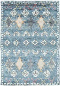 Zaurac - 青 グレー 絨毯 140X200 モダン 手織り 水色/薄い灰色 (ウール, インド)