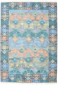 Azteca - 青 Multi 絨毯 240X340 モダン 手織り 水色/薄い灰色 (ウール, インド)