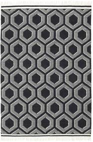 Opti - 黒/白 絨毯 170X240 モダン 手織り 黒/濃いグレー (ウール, インド)