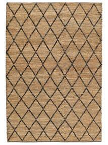 屋外カーペット Serena Jute - ナチュラル/黒 絨毯 200X300 モダン 手織り 薄い灰色/ベージュ ( インド)