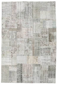 パッチワーク 絨毯 202X301 モダン 手織り 薄い灰色 (ウール, トルコ)