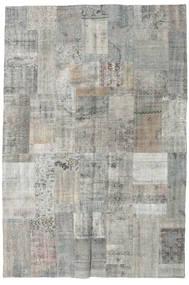 パッチワーク 絨毯 201X300 モダン 手織り 薄い灰色/濃いグレー (ウール, トルコ)