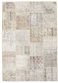 パッチワーク 絨毯 158X230 モダン 手織り 薄い灰色/暗めのベージュ色の (ウール, トルコ)