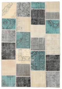 パッチワーク 絨毯 160X232 モダン 手織り ベージュ/深緑色の (ウール, トルコ)