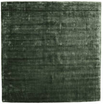 Brooklyn - モスグリーン 絨毯 250X250 モダン 正方形 深緑色の 大きな ( インド)