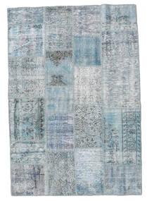 パッチワーク 絨毯 139X201 モダン 手織り 水色/薄い灰色 (ウール, トルコ)