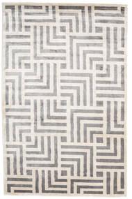 Maze 絨毯 200X300 モダン 手織り 薄い灰色/ホワイト/クリーム色 ( インド)