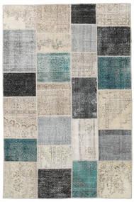 パッチワーク 絨毯 200X302 モダン 手織り 薄い灰色/黒 (ウール, トルコ)