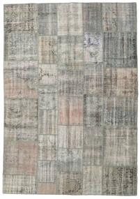 パッチワーク 絨毯 205X294 モダン 手織り 薄い灰色/濃いグレー (ウール, トルコ)