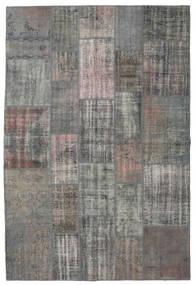 パッチワーク 絨毯 203X303 モダン 手織り 濃いグレー/薄い灰色 (ウール, トルコ)
