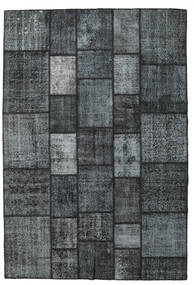 パッチワーク 絨毯 203X300 モダン 手織り 紺色の/濃いグレー/薄い灰色 (ウール, トルコ)