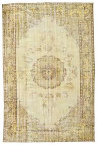 カラード ヴィンテージ 絨毯 185X285 モダン 手織り 暗めのベージュ色の/ベージュ/ライトグリーン (ウール, トルコ)