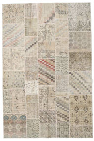 パッチワーク 絨毯 198X300 モダン 手織り 薄い灰色/ベージュ (ウール, トルコ)
