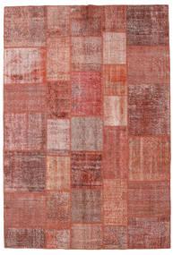 パッチワーク 絨毯 205X301 モダン 手織り 深紅色の/茶 (ウール, トルコ)