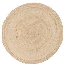 屋外カーペット Solana Plain Jute - ナチュラル 絨毯 Ø 150 モダン 手織り ラウンド ベージュ/薄茶色 ( インド)