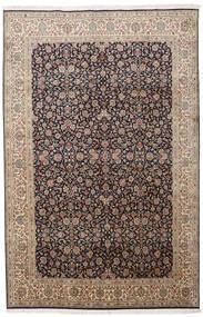 カシミール ピュア シルク 絨毯 164X252 オリエンタル 手織り 薄い灰色/薄茶色 (絹, インド)