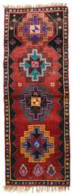 Herki ヴィンテージ 絨毯 135X373 オリエンタル 手織り 廊下 カーペット 深紅色の/黒 (ウール, トルコ)