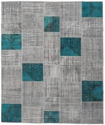 パッチワーク 絨毯 250X302 モダン 手織り 薄い灰色/濃いグレー 大きな (ウール, トルコ)