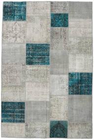 パッチワーク 絨毯 200X302 モダン 手織り 薄い灰色/ターコイズ (ウール, トルコ)