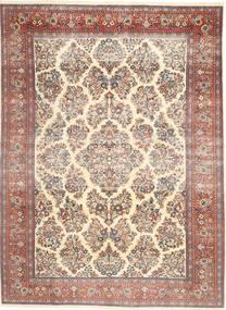 サルーク パティナ 絨毯 200X280 オリエンタル 手織り ベージュ/濃い茶色 (ウール, ペルシャ/イラン)