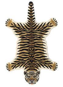 Tiger - ベージュ 絨毯 100X160 モダン 紺色の/薄茶色 (ウール, インド)
