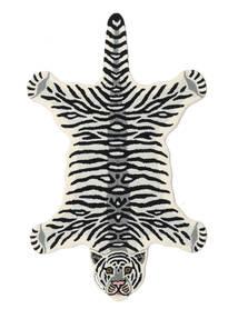 Tiger - 白 絨毯 100X160 モダン 黒/ベージュ (ウール, インド)