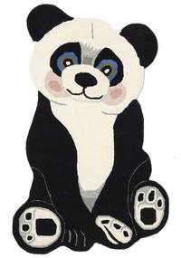 Panda Baby 絨毯 100X160 モダン 濃いグレー/ベージュ (ウール, インド)