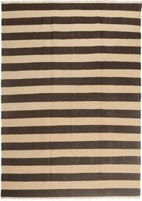 キリム 絨毯 168X236 オリエンタル 手織り 濃い茶色/ベージュ (ウール, ペルシャ/イラン)