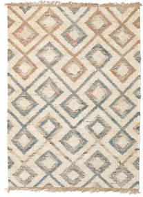 屋外カーペット Patagonia Jute 絨毯 140X200 モダン 手織り ベージュ/薄い灰色 ( インド)