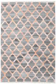 屋外カーペット Kathi - グレー/Coral 絨毯 200X300 モダン 手織り 薄い灰色/濃いグレー/ライトピンク ( インド)